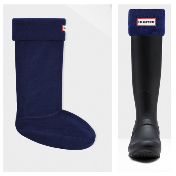 b3a30c656bb Hunter Navy Fleece Welly Socks NIB
